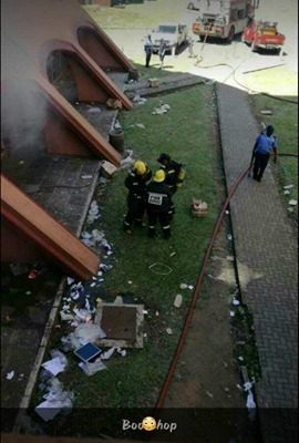 Some of the institution's property has been vandalised