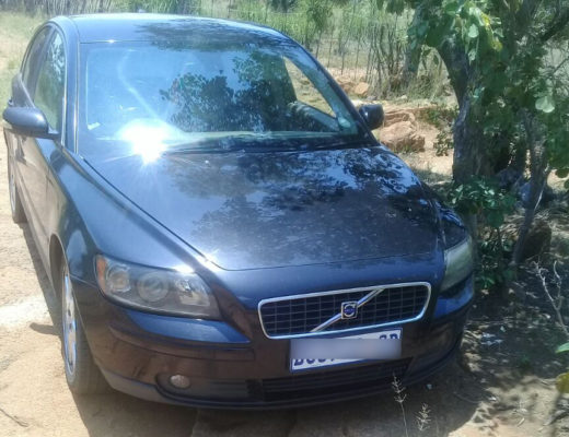 The stolen black Volvo, also recovered by police.