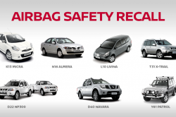 Nissan issues safety recall due to airbag defect