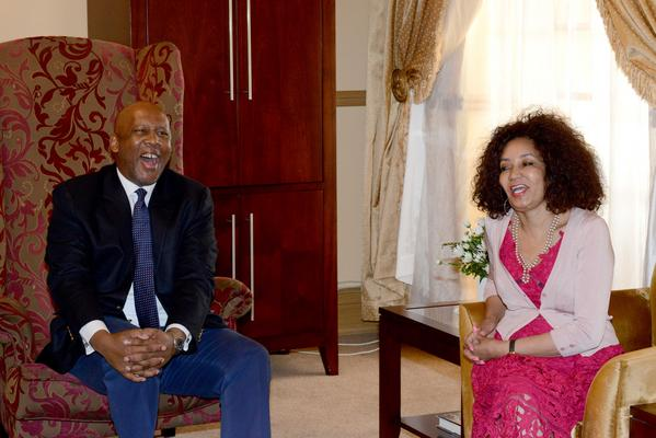Lindiwe Sisulu with King Letsie III. Picture: ANA