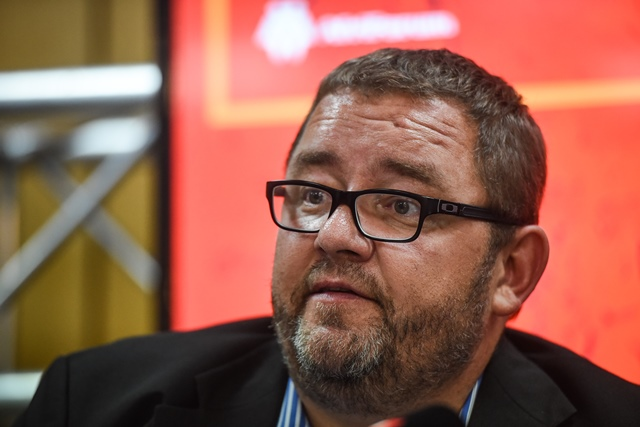 CEO Kallie Kriel is seen during a press briefing at Afriforum's head office where he announced that they intend to privately prosecute Economic Freedom Fighters (EFF) leader Julius Malema on charges of fraud and corruption, 19 April 2018, Pretoria. Picture: Jacques Nelles