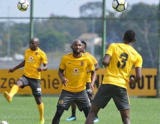 Ramahlwe Mphahlele and Erick Mathoho during the Kaizer Chiefs training at Chiefs Village (Pic Sydney Mahlangu/BackpagePix)