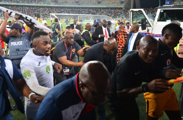 Steve Komphela, coach of Kaizer Chiefs running after the game during the 2018 Nedbank Cup semi final match between Kaizer Chiefs and Free State Stars at Moses Mabhida Stadium. (Samuel Shivambu/BackpagePix)