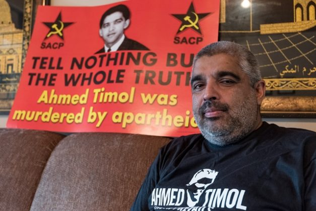Imtiaz Cajee sits for a portrait in his home in Garsfontein, Pretoria on 10 April 2018. Cajee is soon to release another book on his uncle, the famed anti-apartheid activist Ahmed Timol, who was killed in police custody. Picture: Yeshiel Panchia