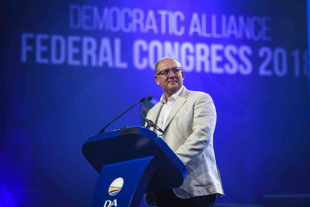 Mayor of Nelson Mandela Bay, Athol Trollip addresses supporters at the opening ceremony of the Democratic Alliance's Federal Congress held at the Thwane Events Center, 7 April 2018, Pretoria. Picture: Jacques Nelles