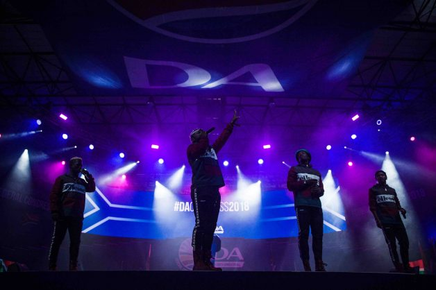 Soweto's Finest entertains DA supporters at the opening ceremony of the Democratic Alliance's Federal Congress held at the Thswane Events Center, 7 April 2018, Pretoria. Picture: Jacques Nelles