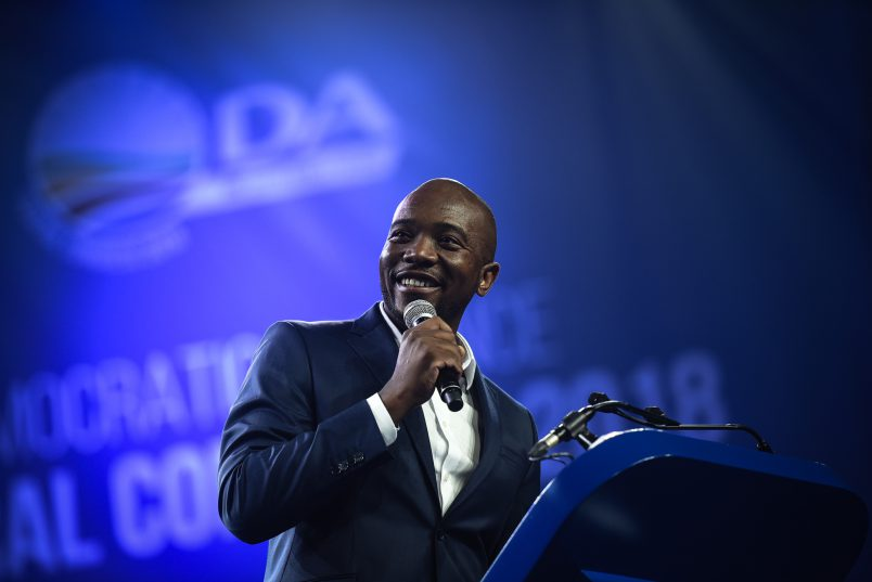 DA leader Mmusi Maimane addresses the crowds during the opening ceremony of the Democratic Alliance's Federal Congress held at the Thwane Events Center, 7 April 2018, Pretoria. Picture: Jacques Nelles