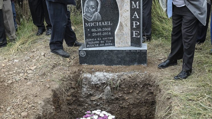 Michael Komape died when he drowned in a faeces filled toilet pit four years ago.  Gallo images.
