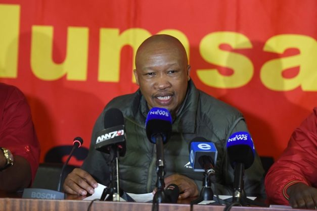 General Secretary of the National Union of Metalworkers of South Africa, (Numsa) Irvin Jim briefs media at Numsa in Newtown, 24 April 2018. Picture: Neil McCartney