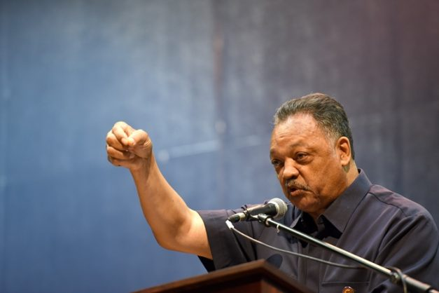 US Civil Rights activist Rev Jesse Jackson during a talk held at the Wits University Great Hall in Johannesburg, 16 April 2018. Picture: Refilwe Modise