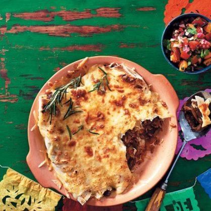 Rump steak and cheesy enchiladas. Photo: Dylan Swart