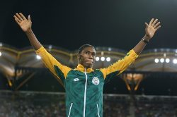 Double gold for Caster as she dominates 800m