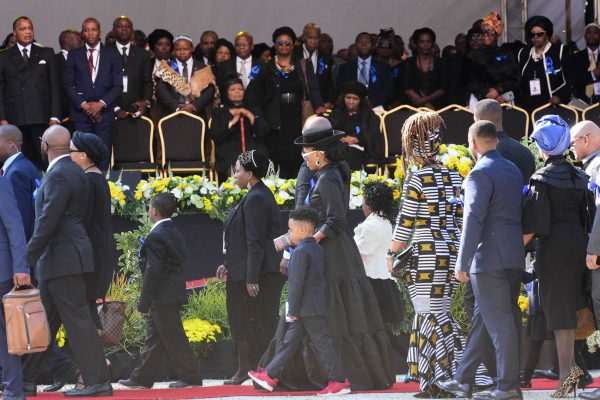 Struggle icon Winnie Mandela's grandchildren at Orlando Stadium during  the Special Official Funeral, 14 April 2018. Picture: Nigel Sibanda