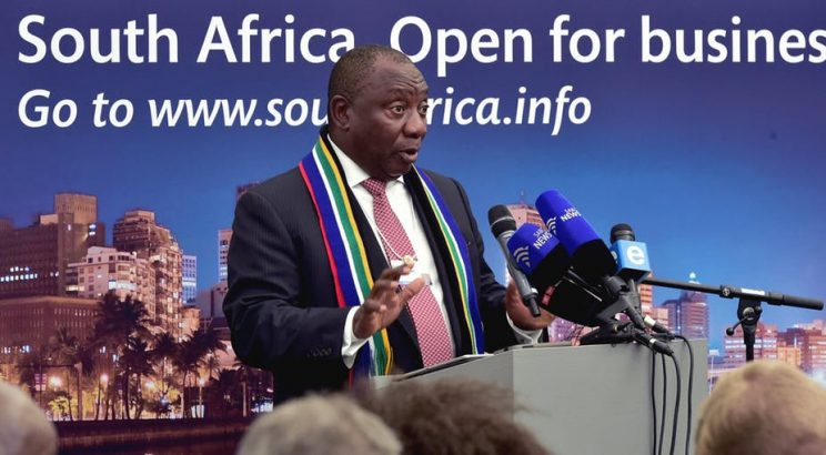 Cyril Ramaphosa wooing investors. Picture: GCIS