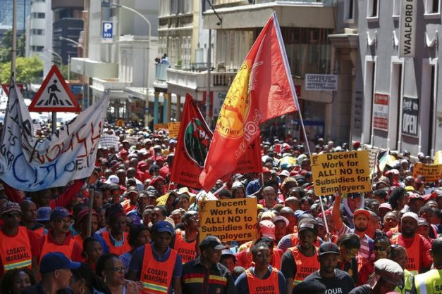 Strikes are a common sight in South Africa. Data helps to put them in context. Nic Bothma/EPA