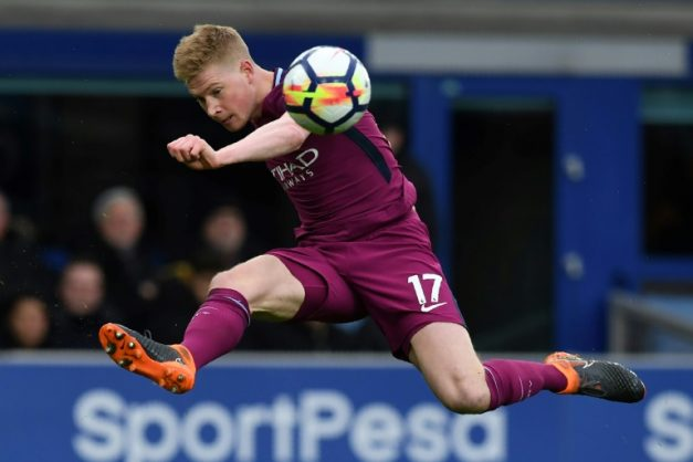 Manchester City midfielder Kevin De Bruyne has been named in the Professional Footballers' Association's Premier League team of the year