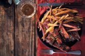 Recipe: Whisky and maple sticky pork ribs with sweet potato fries