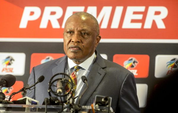 PSL chairman Irvin Khoza addresses the media on the matter of resurgent violence in sport and in particular the violence that erupted in the wake of a Nedbank Cup match between Kaizer Chiefs and Free State Stars in Durban, during the PSL Chairman Press Conference at PSL Headquarters. (Photo by Sydney Seshibedi/Gallo Images)