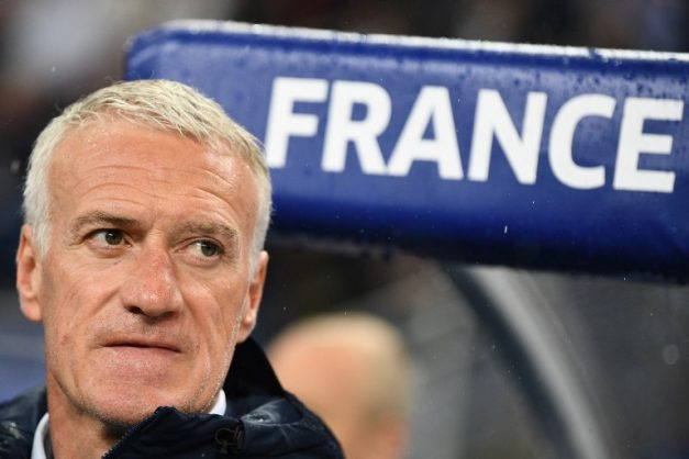 France's head coah Didier Deschamps looks on during the friendly football match between France and Ireland at the Stade de France stadium, in Saint-Denis, on the outskirts of Paris, on May 28, 2018. / AFP PHOTO / FRANCK FIFE