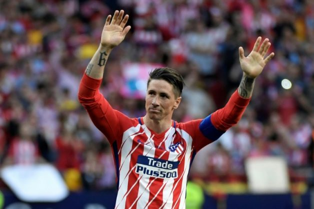 Thanks for the memories: Atletico Madrid's Fernando Torres acknowledges the fans on his last appearance for the club on Sunday. AFP/GABRIEL BOUYS