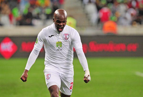 Goodman Dlamini of Free State Stars celebrates his goal  (Ryan Wilkisky/BackpagePix)