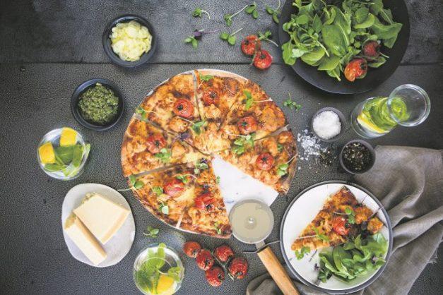 BBQ cauliflower pizza. Photo: Supplied