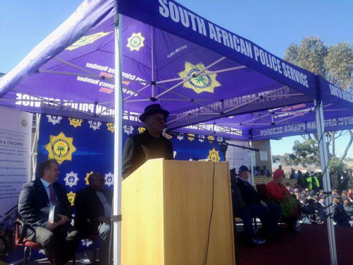 Minister of Police Bheki Cele announced Operation Thunder in Mitchells Plain on Tuesday. Photo: Thembela Ntongana