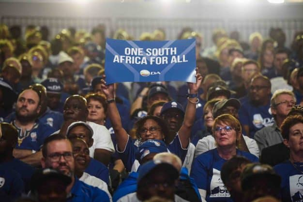 DA supporters are seen celebrating during the opening ceremony of the Democratic Alliance's Federal Congress held at the Thwane Events Center, 7 April 2018, Pretoria. Picture: Jacques Nelles