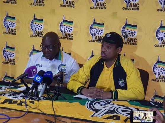 Acting Gauteng ANC chairperson David Makhura and provincial secretary Hope Papo. Picture: Twitter/@GautengANC