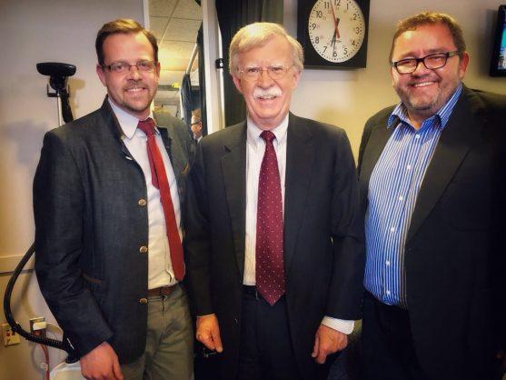 Ernst Roets, John Robert Bolton and Kallie Kriel. Picture: Twitter/Kallie Kriel