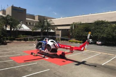 Man airlifted to hospital after falling down stairs in Johannesburg