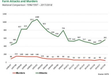 Farm murders at a 20-year low, AgriSA reports