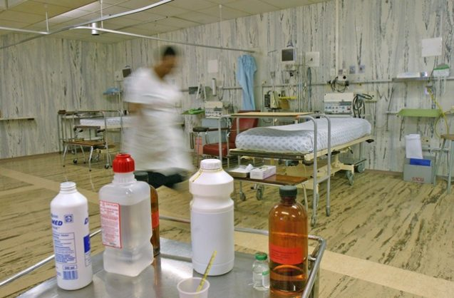 An empty ICU ward at the Helen Joseph Hospital in Westdene, all the patients were transferred to Coronation Hospital and Baragwanath until power cuts are over.
