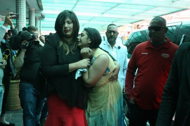 Mourners from Chatsworth and surrounding communities gathered for the funeral service of slain Shallcross girl Sadia Sukhraj, who was killed in a botched hijacking on Monday. Picture: Chatsworth Rising Sun