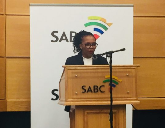 SABC acting CEO Nomsa Philiso addresses journalists on two commissions of inquiry at the SABC, Johannesburg, 31 May 2018. Picture: ANA