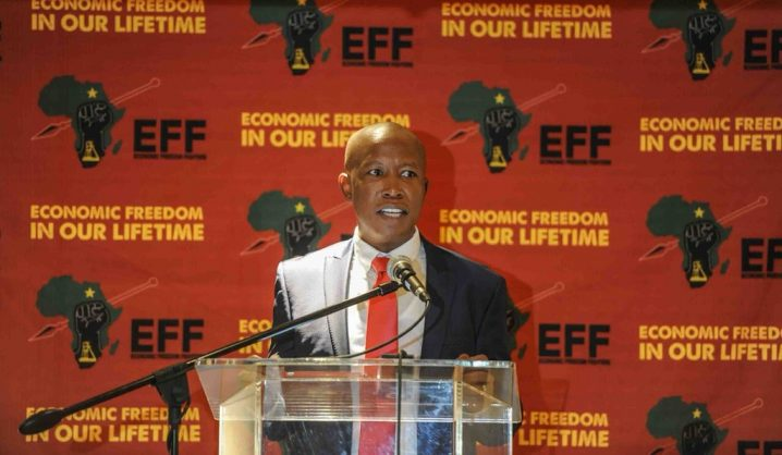 Malema unexpectedly lends support to 'Zuma's nanny' Moyane's legal fight