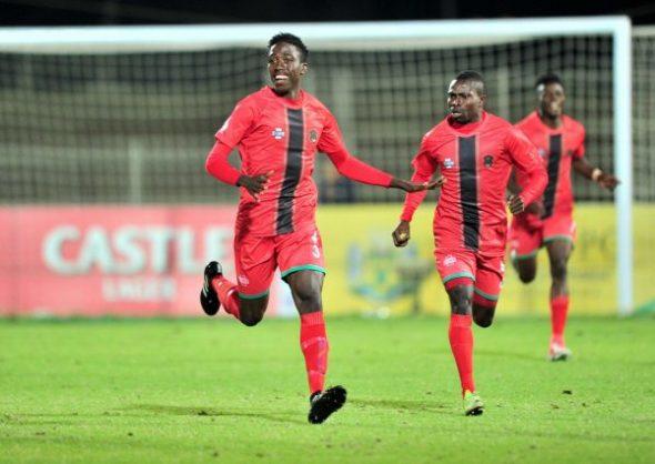 Precious Sambani of Malawi celebrates goal during the 2018 COSAFA match between Malawi and Botswana at Seshego Stadium. (Samuel Shivambu/BackpagePix)