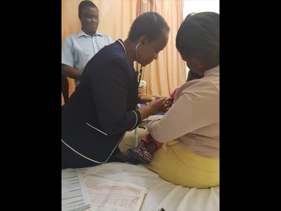Gauteng MEC for Health Dr Gwen Ramokgopa joined Stanza Bopape Clinic staff in Mamelodi on Tuesday.