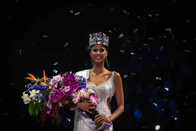 Tamaryn Green is seen celebrating after being crowned as Miss South Africa 2018, 27 May 2018, at the Sun Arena , Pretoria. Picture: Jacques Nelles