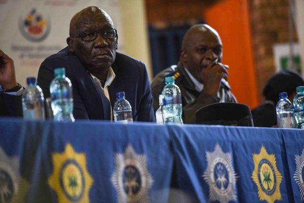 Police Minister Bheki Cele is seen at the TUT Soshanguve Campus during a quesgtion and answer session with the students regarding security at the campus, 11 May 2018, Pretoria. Picture: Jacques Nelles