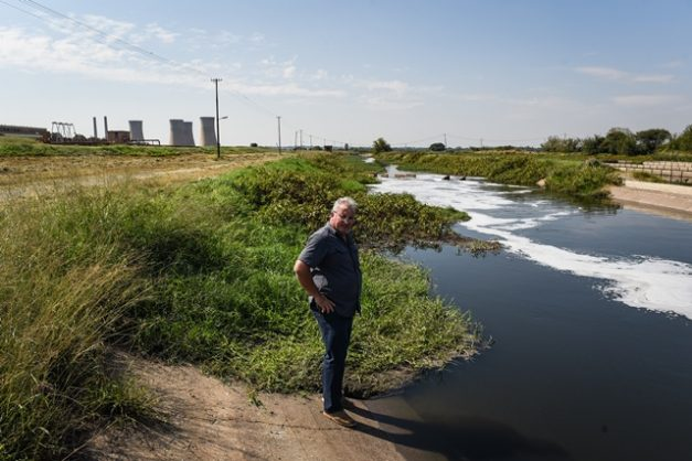 Andre Potgieter, community leader of Zone 2 in Hammanskraal, is seen at the Rooiwal Water Treatment Plant, 3 May 2018, Pretoria. Picture: Jacques Nelles