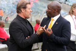 Did Eymael take a dig at former Chiefs coach Komphela?