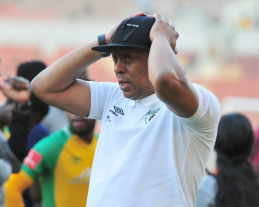 Doctor Khumalo coach of Baroka FC during the Absa Premiership match between Baroka FC and Bloemfontein Celtic at Peter Mokaba Stadium on April 28, 2018 in Polokwane, South Africa. (Photo by Philip Maeta/Gallo Images)