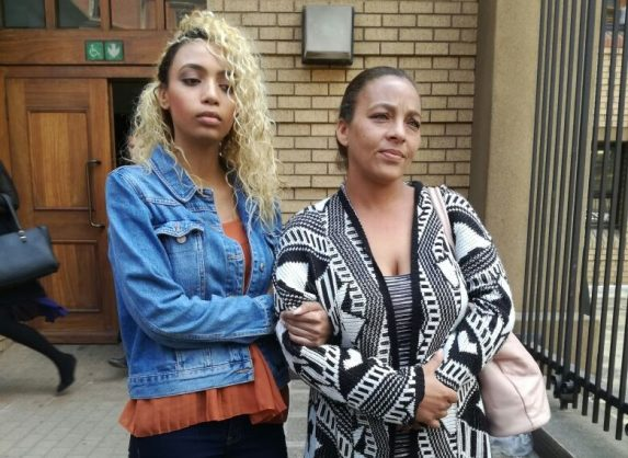 Gabriella Engels, the 20-year-old model who was allegedly assaulted by former Zimbabwean first lady Grace Mugabe, and her mother, Debbie Engels. Picture: ANA