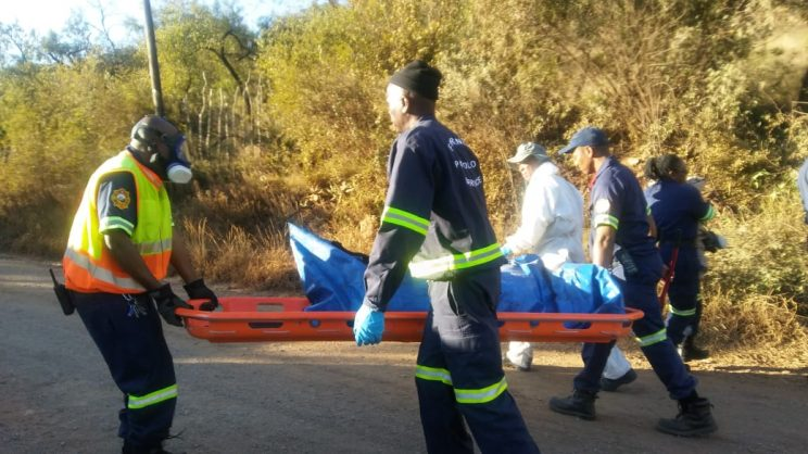The bodies of three people were discovered inside a cave near Vlakplaas, Scherberg, west of Pretoria. Picture: Supplied
