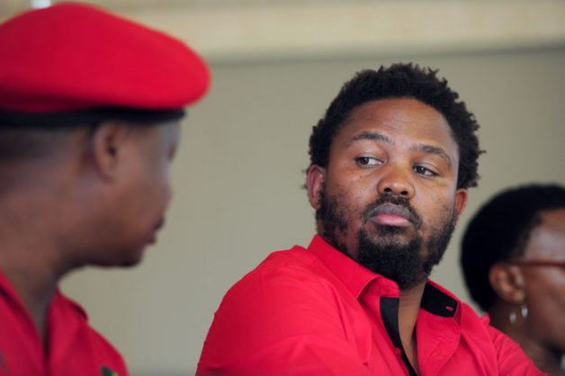 FILE PICTURE: Former EFF member, Andile Mngxitama speaks to media in Sandton, Johannesburg, 17 February 2015, at an EFF faction briefing. Picture Nigel Sibanda