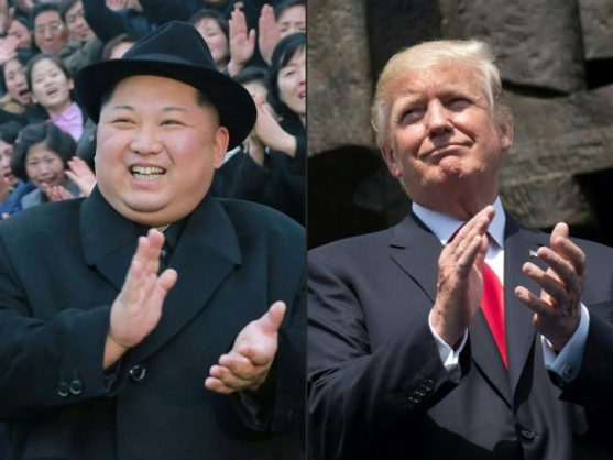 North Korean leader Kim Jong Un and US President Donald Trump are due to meet in Singapore on June 12, but Pyongyang has thrown the meeting into doubt. KCNA VIA KNS/AFP/File/-, SAUL LOEB