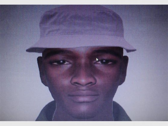This man in his late 20s is wanted in connection with a house robbery that took place at a supermarket in Actonville. He is dark in complexion, tall, skinny and he speaks isiZulu. He was last seen wearing a Springbok jersey and a white hat.