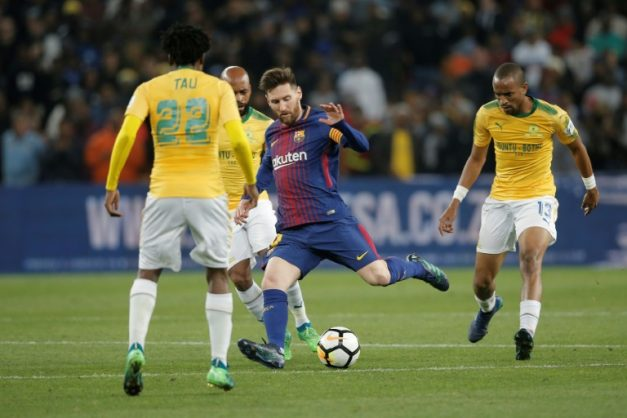 Lionel Messi made a late appearance as a substitute in Soweto. AFP/GIANLUIGI GUERCIA