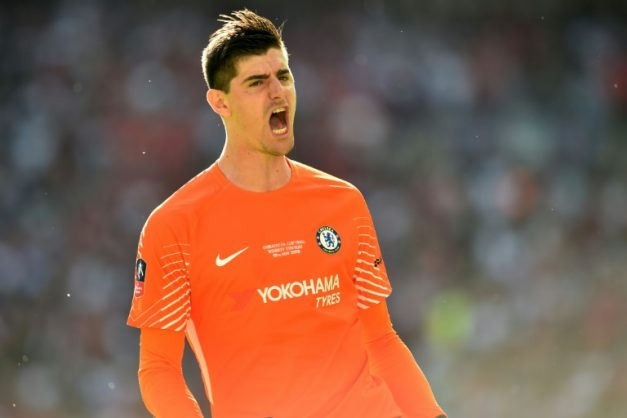 Belgian goalkeeper Thibaut Courtois is refusing to commit his future to Chelsea. AFP/Glyn KIRK